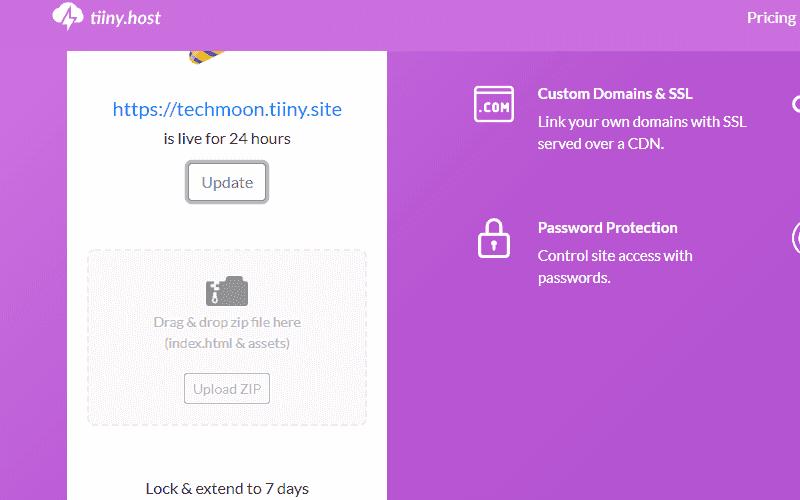 點選「Upload」按鈕即可重新上傳新的靜態網站 ZIP 檔案