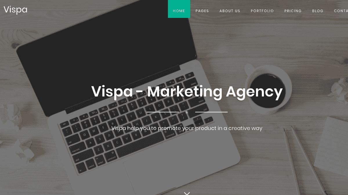【WordPress 付費主題免費下載】Vispa for Startups - Responsive Business WordPress Theme