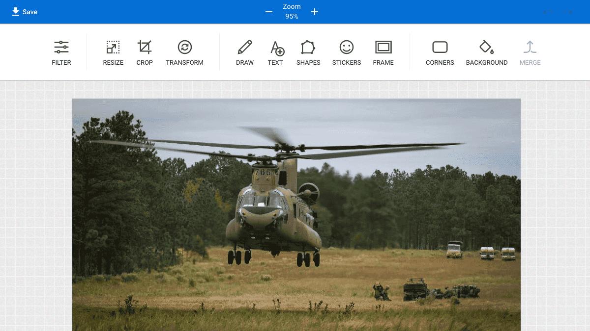 提供「Pixie」線上編輯工具幫圖片進行編輯與設計