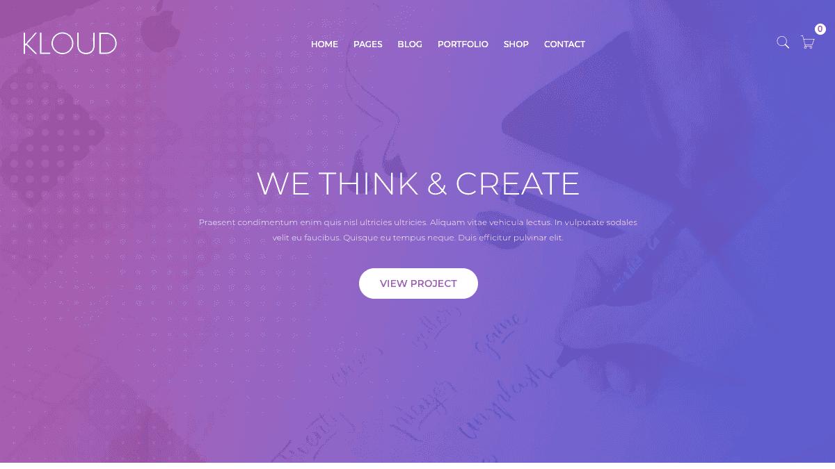 【WordPress 付費主題免費下載】Kloud - Creative Multipurpose WordPress Theme
