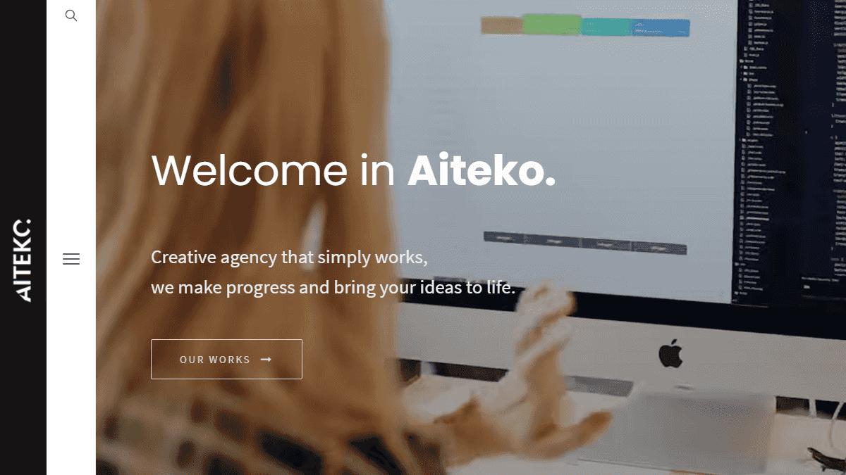 【WordPress 付費主題免費下載】Aiteko - Creative Portfolio Ajax Elementor WordPress Theme