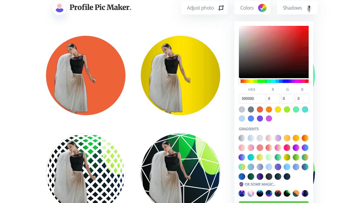 Colors 功能可以改變大頭貼的整體外觀顏色