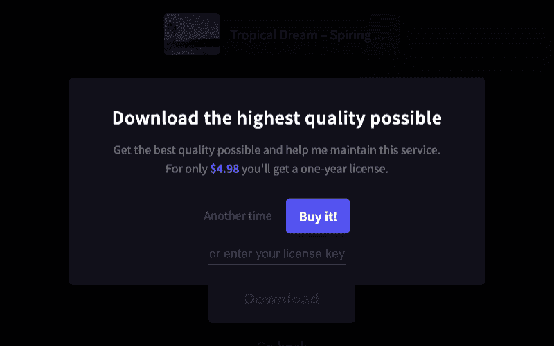 一年 $4.98 下載高畫質的影片