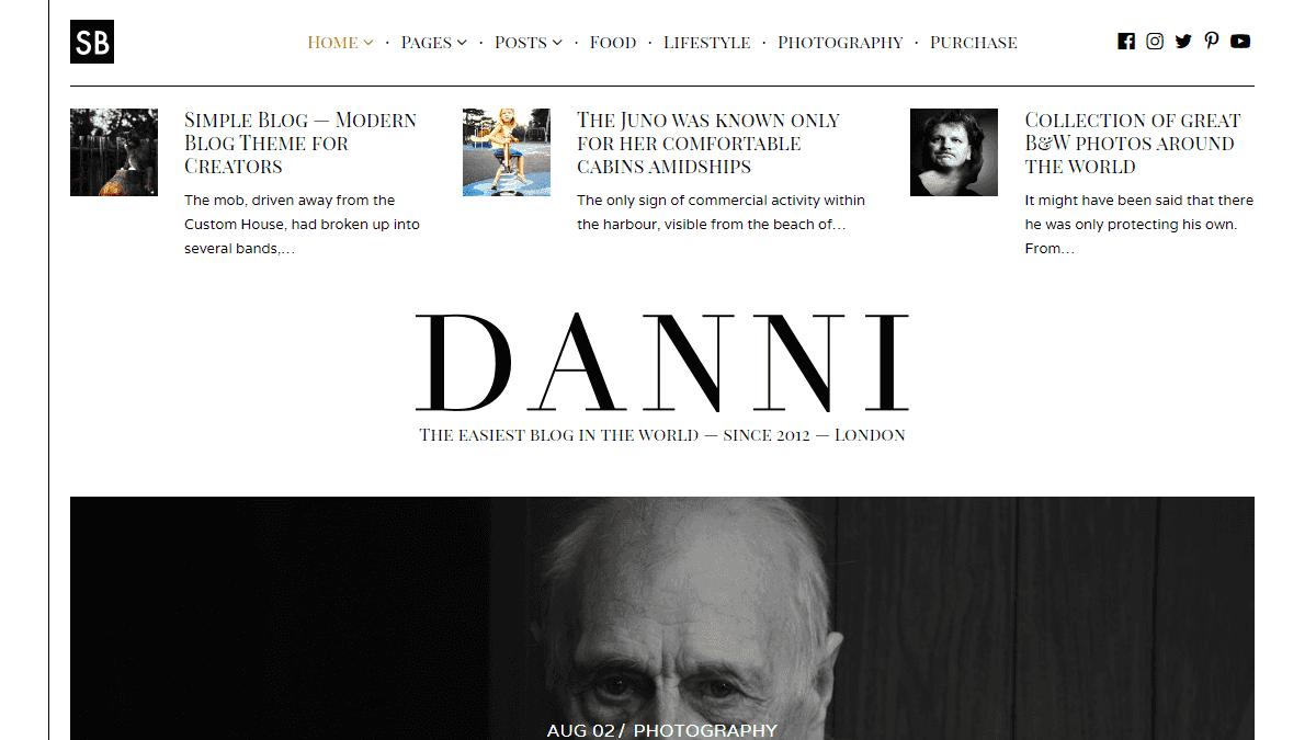 【WordPress 付費主題免費下載】Danni — Minimalist WordPress Blog Theme