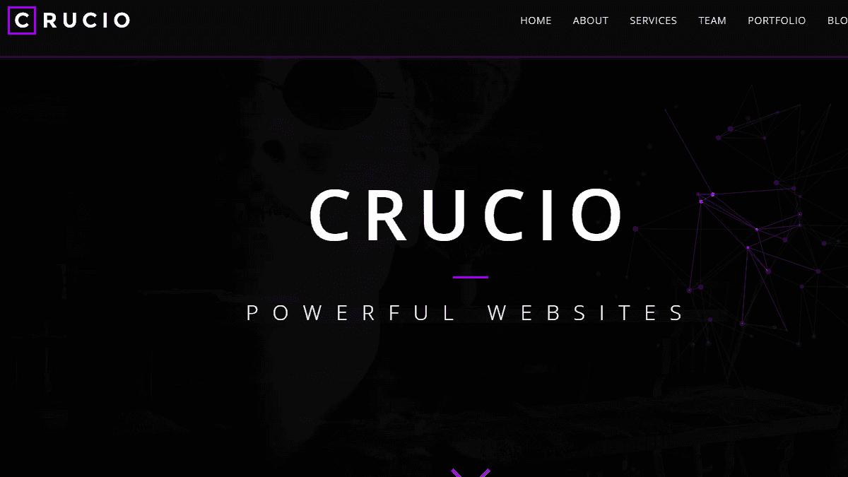 【WordPress 付費主題免費下載】Crucio - Responsive One Page WordPress Theme