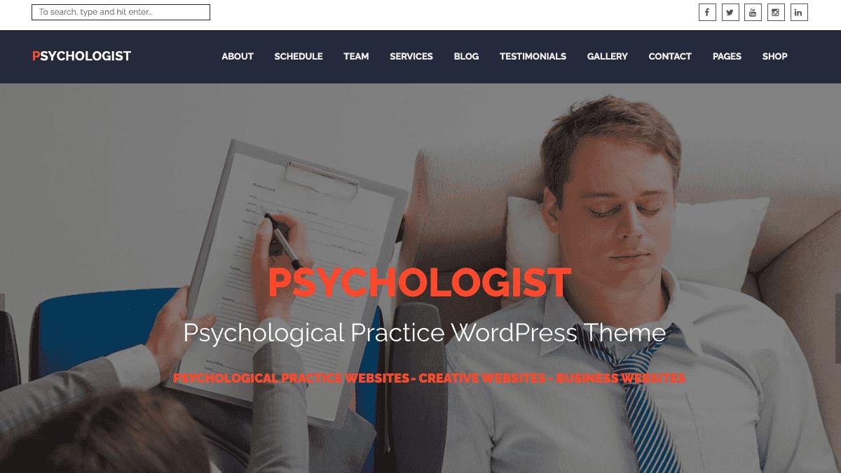 【WordPress 付費主題免費下載】Psychologist - Psychological Practice WP Theme